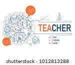 teacher icons collection...   Shutterstock .eps vector #1012813288