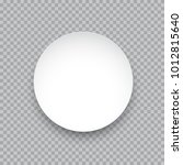 vector white round sticker... | Shutterstock .eps vector #1012815640