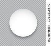 vector white round sticker... | Shutterstock .eps vector #1012815640