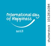 international day of happiness | Shutterstock .eps vector #1012816384