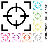 focus vector icon. colorful... | Shutterstock .eps vector #1012816534