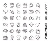 valentines day icons set. set... | Shutterstock .eps vector #1012817044