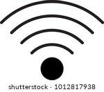 wifi vector icon. wifi icon... | Shutterstock .eps vector #1012817938