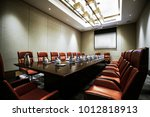 business meeting room or board... | Shutterstock . vector #1012818913
