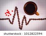 electrocardiogram line of... | Shutterstock . vector #1012822594