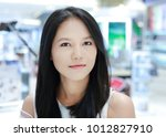 close up face of asian woman... | Shutterstock . vector #1012827910