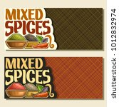 vector banners for spices | Shutterstock .eps vector #1012832974
