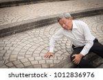 old man falling down  senior... | Shutterstock . vector #1012836976