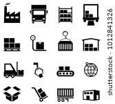 logistics  supply chain ... | Shutterstock .eps vector #1012841326