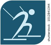winter sport icon   cross... | Shutterstock .eps vector #1012841344