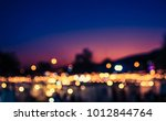 abstract blurred image of night ... | Shutterstock . vector #1012844764