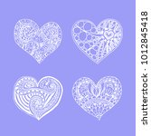 set of four doodle hand drawn... | Shutterstock .eps vector #1012845418