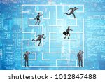 business people getting lost in ...   Shutterstock . vector #1012847488