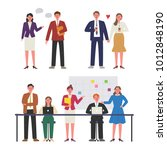 office workers with business... | Shutterstock .eps vector #1012848190