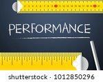 measuring business performance... | Shutterstock . vector #1012850296