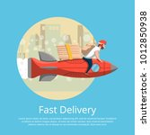 fast food delivery poster with... | Shutterstock .eps vector #1012850938