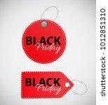 black friday sale label vector... | Shutterstock .eps vector #1012851310
