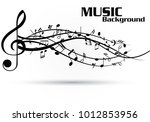 abstract music notes on line... | Shutterstock .eps vector #1012853956