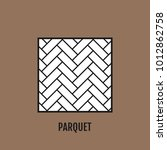 parquet and flooring. flat icon ... | Shutterstock .eps vector #1012862758
