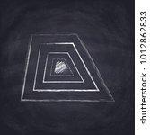 chalk drawn acute trapezoid.... | Shutterstock .eps vector #1012862833