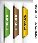 feedback labels and stickers on ... | Shutterstock .eps vector #101286508