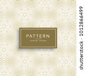 golden texture pattern in line... | Shutterstock .eps vector #1012866499
