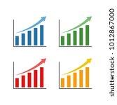 profit chart symbol design... | Shutterstock .eps vector #1012867000