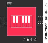 piano keyboard icon | Shutterstock .eps vector #1012868278