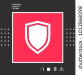 shield  protection icon | Shutterstock .eps vector #1012868398