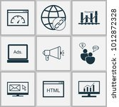 advertising icons set with... | Shutterstock .eps vector #1012872328