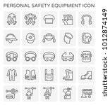 safety equipment and tool icon... | Shutterstock .eps vector #1012874149