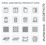 steel and metal product  icon... | Shutterstock .eps vector #1012874170