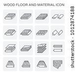 wood floor and material vector... | Shutterstock .eps vector #1012874188