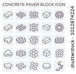 concrete paver block floor icon ... | Shutterstock .eps vector #1012874224