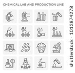 chemical lab and production... | Shutterstock .eps vector #1012874278