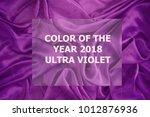 color trend 2018  ultra violet... | Shutterstock . vector #1012876936
