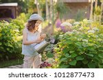 happy child playing little... | Shutterstock . vector #1012877473