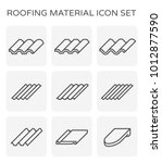 roofing material icon set. | Shutterstock .eps vector #1012877590