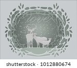 merry christmas and happy new... | Shutterstock .eps vector #1012880674