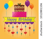 happy birthday card party | Shutterstock .eps vector #1012881106