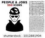 sadly soldier pictograph with... | Shutterstock .eps vector #1012881904