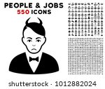 sadly devil pictograph with 550 ... | Shutterstock .eps vector #1012882024