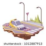 vector low poly driving school... | Shutterstock .eps vector #1012887913