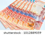 closeup of a collection of... | Shutterstock . vector #1012889059