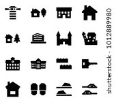 origami style icon set  ... | Shutterstock .eps vector #1012889980