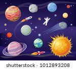 space and planets set  poster...