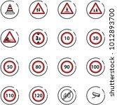 line vector icon set   road...   Shutterstock .eps vector #1012893700