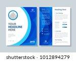annual report  broshure  flyer  ... | Shutterstock .eps vector #1012894279