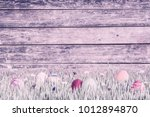 holiday vintage wooden... | Shutterstock . vector #1012894870