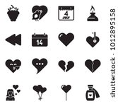 solid black vector icon set  ... | Shutterstock .eps vector #1012895158